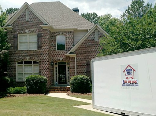 Portable storage container birmingham the mobile attic for Attic storage bow